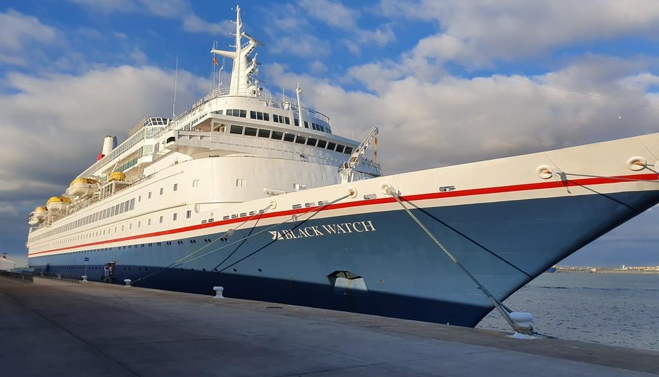 El Black Watch, un dels creuers que l'any passat va atracar al Port de Tarragona.
