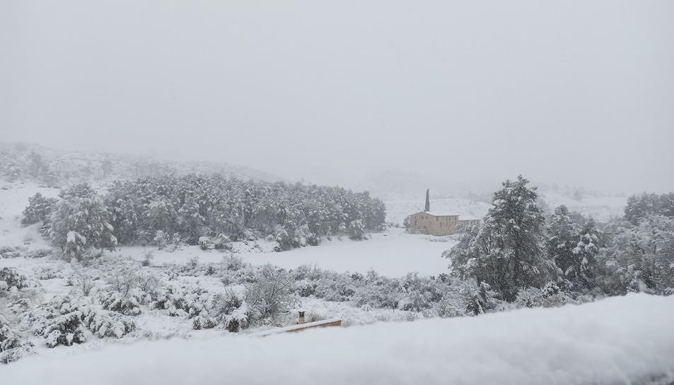 Imatge de la zona entre Prat de Compte i Horta de Sant Joan, a la Terra Alta, aquest dilluns.