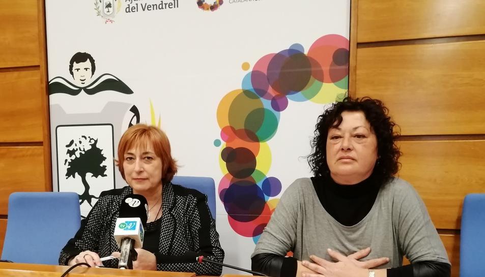 Imatge de la roda de premsa sobre el projecte 'Detectem'.