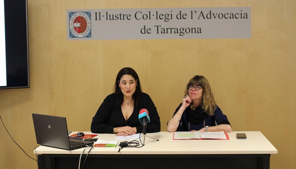 Martín i Alcaraz, durant la roda de premsa que van oferir ahir dimarts a la seu de l'ICAT.