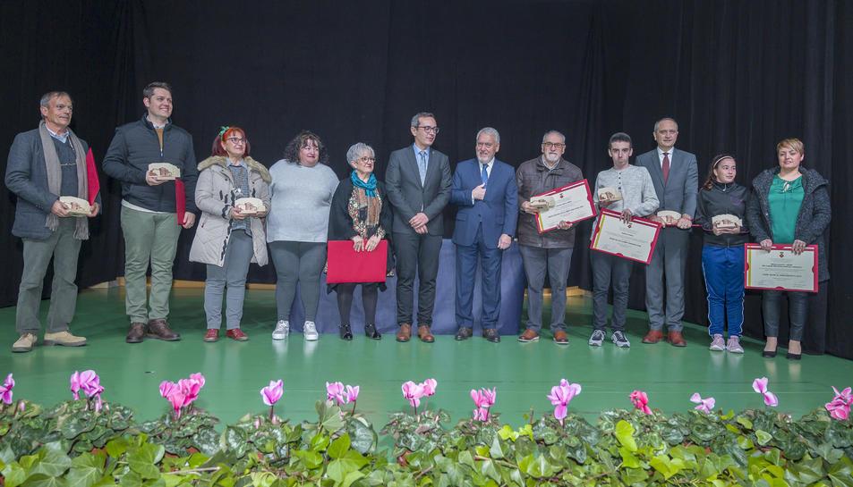 Foto de família des premiats.
