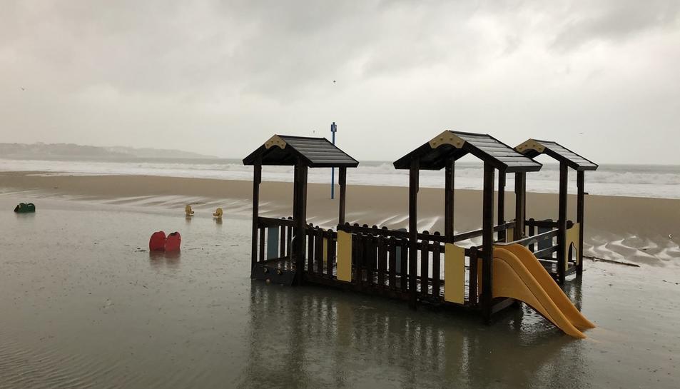 La platja de Salou desapareguda.