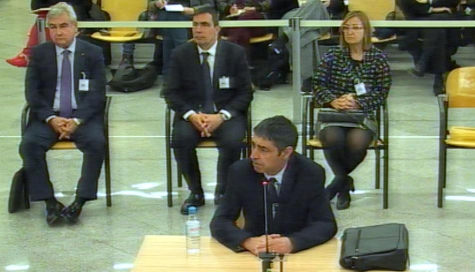 Segona jornada del judici contra l'excúpula dels Mossos amb el major Josep Lluís Trapero declarant aquest 21 de gener del 2020.