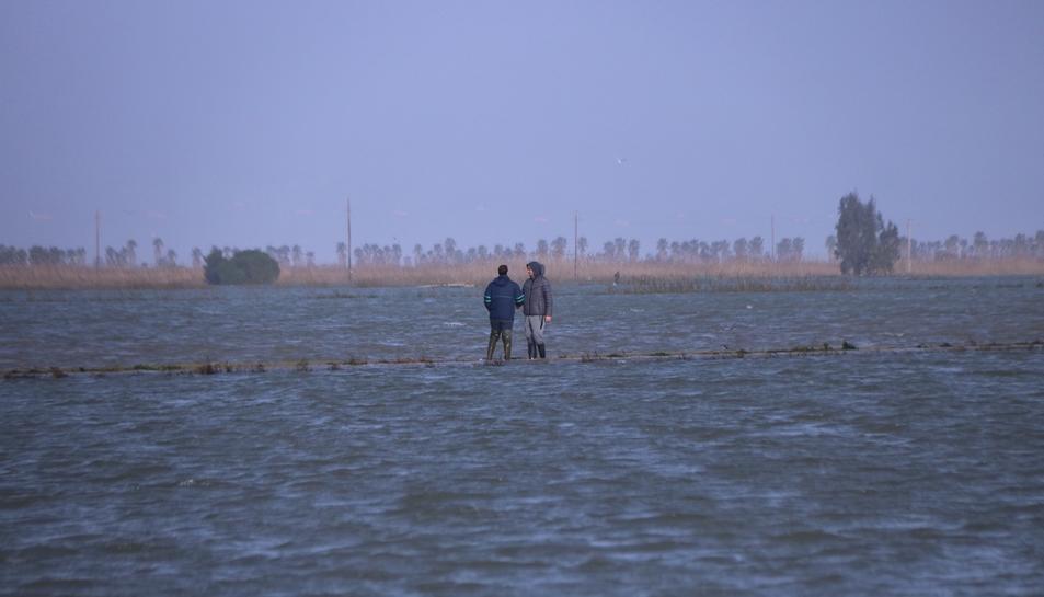 Les imatges del temporal Gloria al Delta