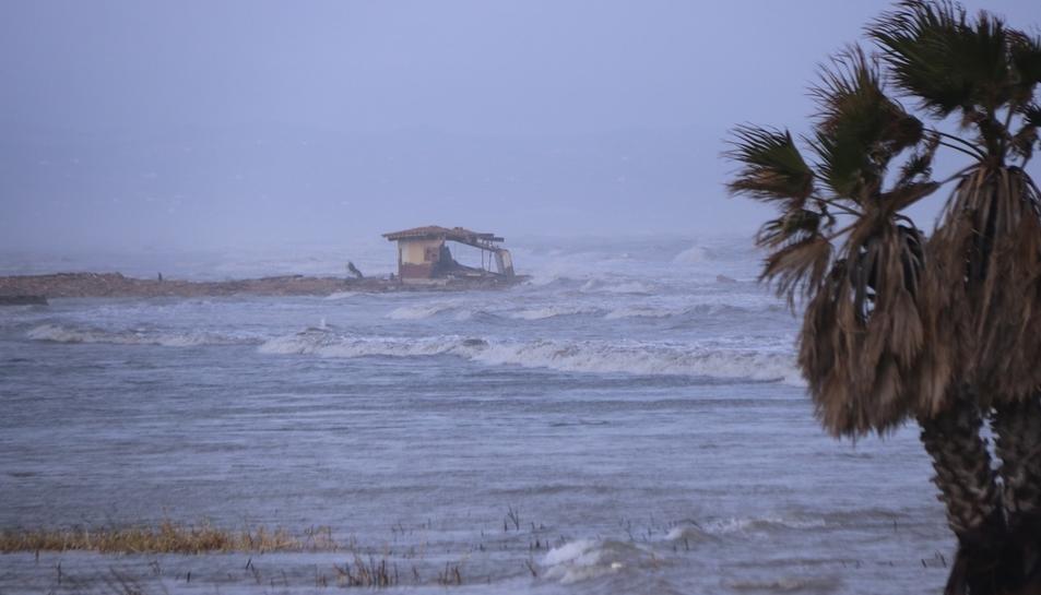 Afectacions del temporal al delta de l'Ebre