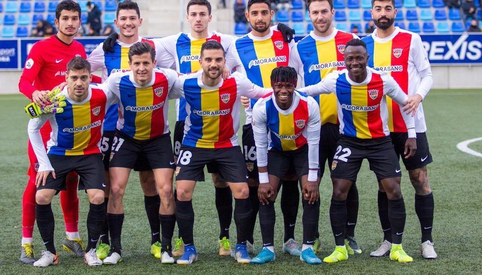 L'onze inicial que va escollir Gabri García pel partit disputat contra el Badalona el cap de setmana passat.