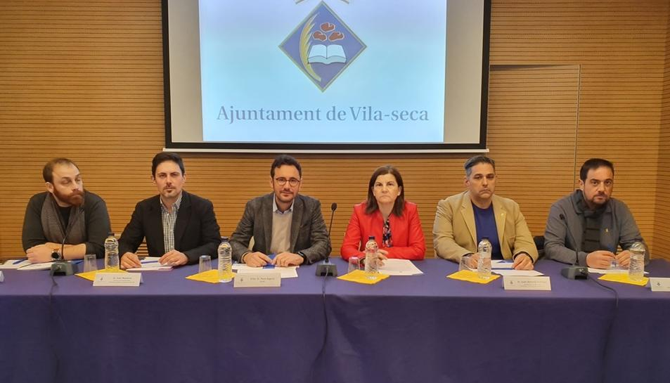 Imatge dels portaveus dels grups municipals.