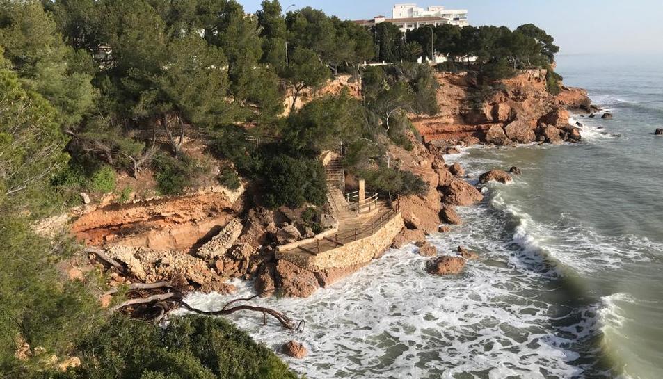 Moltes de les cales han quedat afectades pel temporal Glòria.