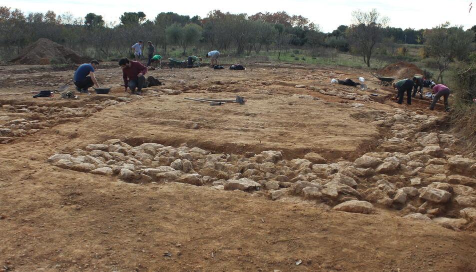 La zona arqueològica de Banyeres del Penedès, en una imatge d'arxiu.