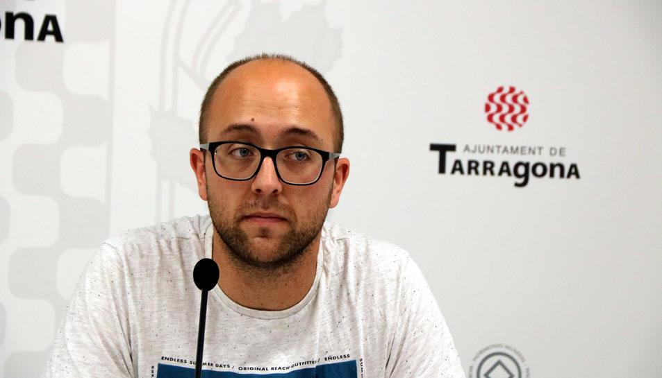 El regidor d'En Comú Podem a l'Ajuntament, Hermán Pinedo.