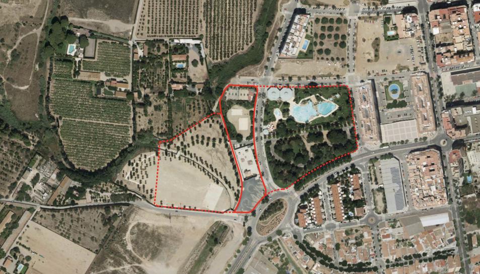 Imatge de la zona on es construirà el parc.