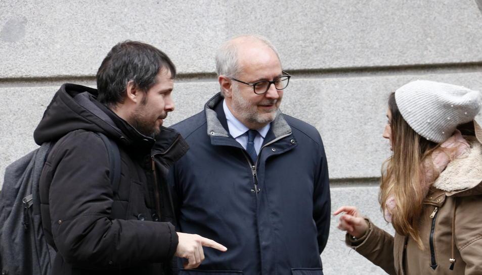 L'advocat de Societat Civil Catalana, Manuel Miró, a la sortida del Tribunal de Comptes.