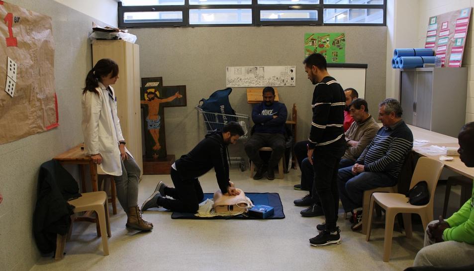 Imatge d'una de les sessions a Mas d'Enric.