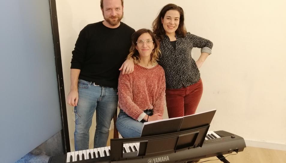 J. Codina, C.Martínez i G.Llauradó, director, directora musical i protagonista de l'obra.