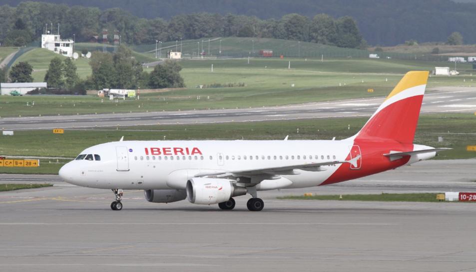 Imatge d'arxiu d'un avió d'Iberia.