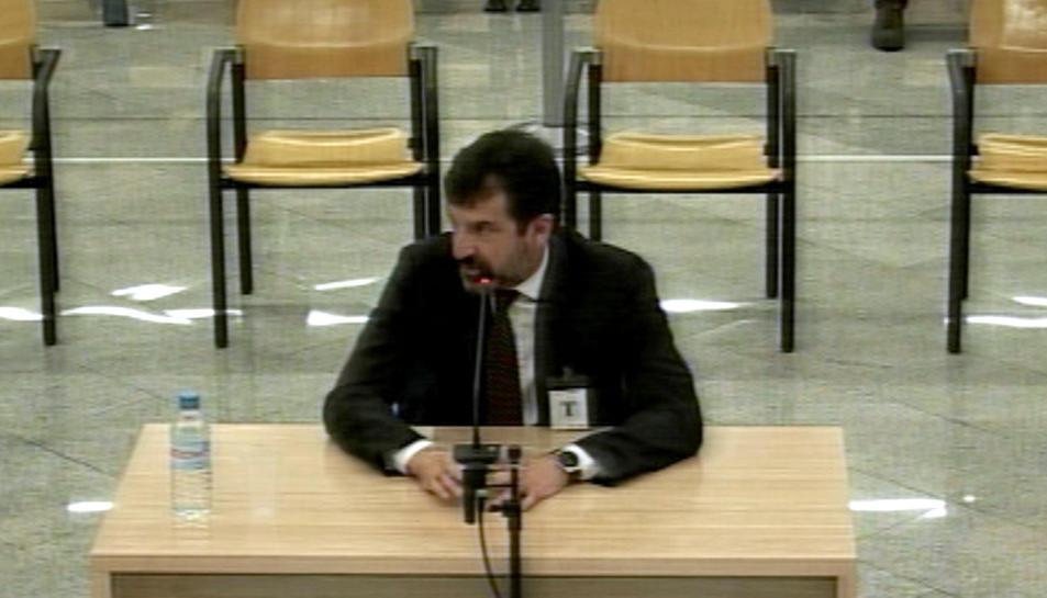 El comissari Ferran López durant la seva declaració com a testimoni a l'Audiència Nacional.