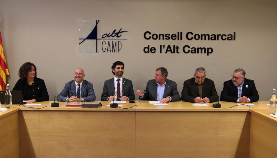Pla general del conseller de Polítiques Digitals i Administració Pública, Jordi Puigneró, en la reunió amb els alcaldes de l'Alt Camp