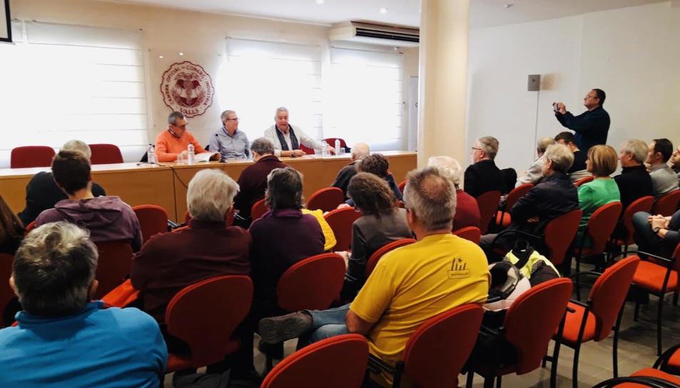 Imatge de la presentació de la patronal independentista Anem X Feina a Valls.