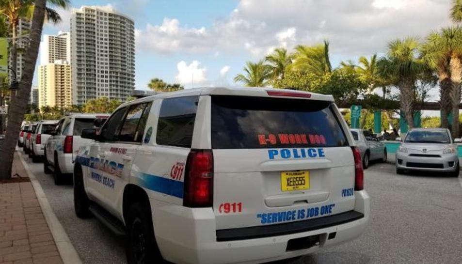 Un cotxe de Policia de Riviera Beach, a Florida.