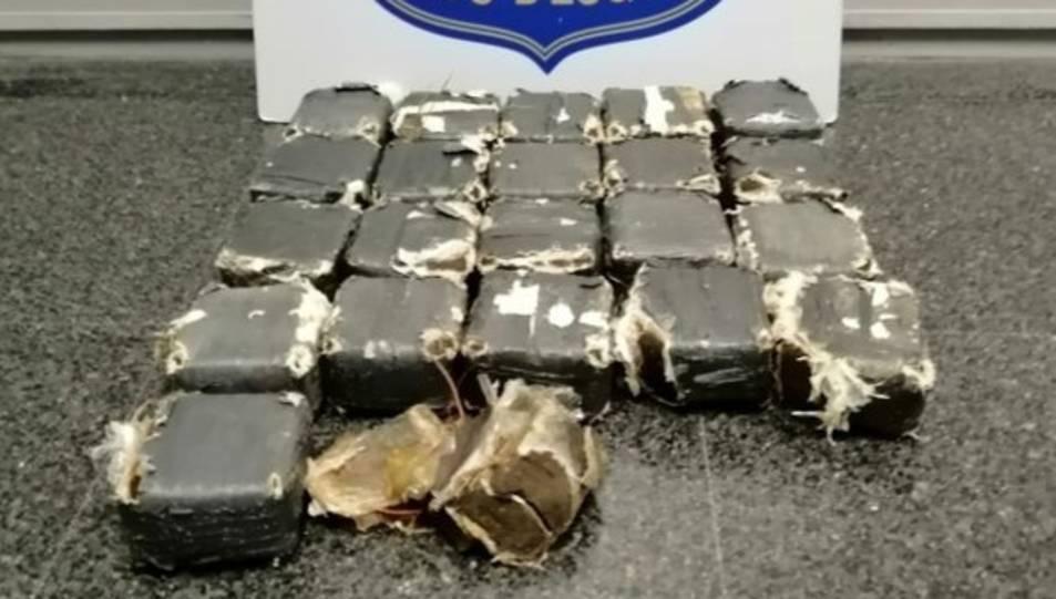 Imatge de la droga trobada pels Mossos.
