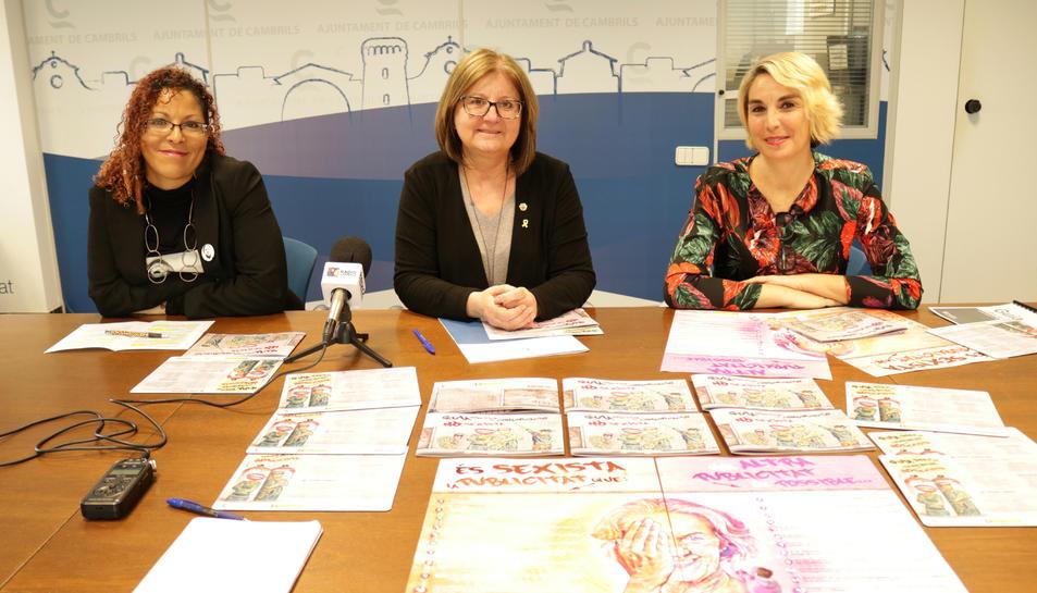 Imatge de la presentació de la campanya per a la comunicació no sexista  de l'Ajuntament de Cambrils.