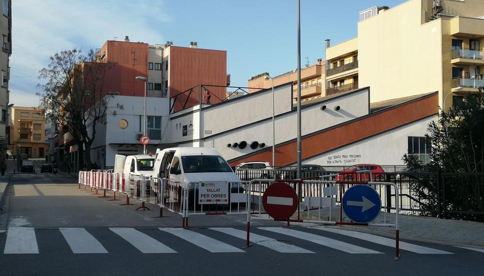 Imatge de les obres al carrer Sant Jordi.