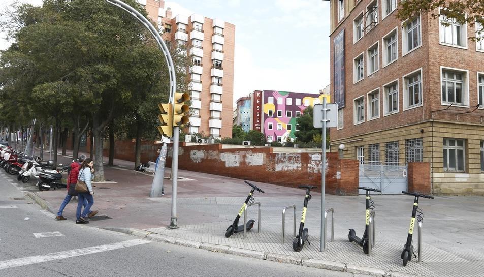 Patinets elèctrics que l'empresa Buny va col·locar a Tarragona sense permís el passat novembre.