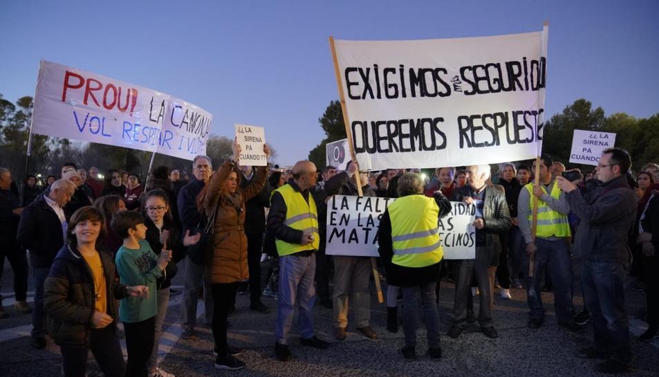 Imatge de la capçalera de la manifestació d'aquest dimarts 4 de febrer.