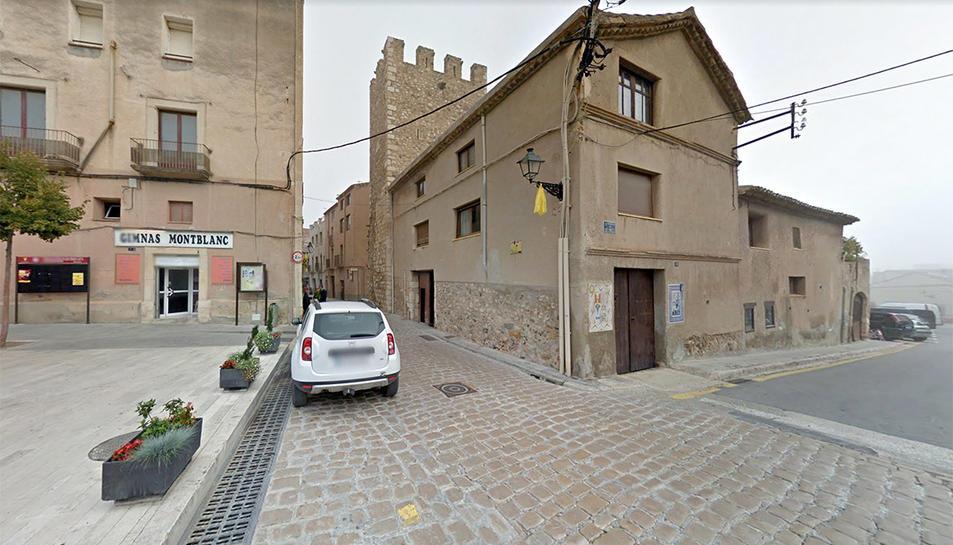 Entrada al carrer Major de Montblanc.