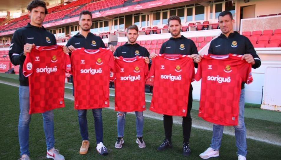 Els cinc futbolistes del Nàstic que han arribat en aquest mercat d'hivern.
