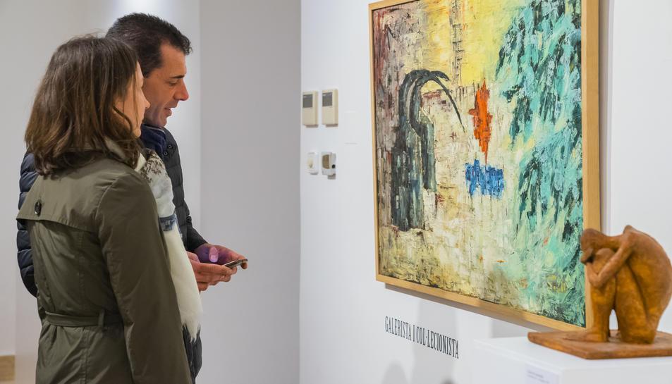 L'exposició dedicada a Tomàs Forteza va obrir les portes al públic ahir dijous a la tarda.