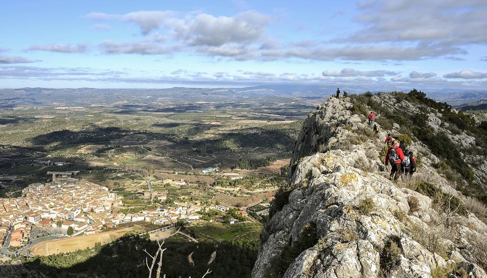 Imatge panoràmica de la Serra de Llaberia