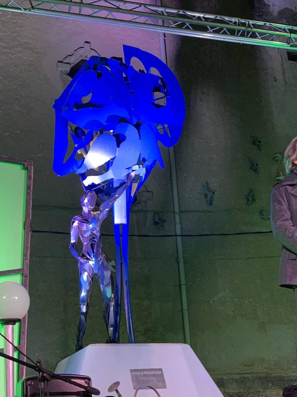 Imatge de l'escultura presentada avui dissabte.