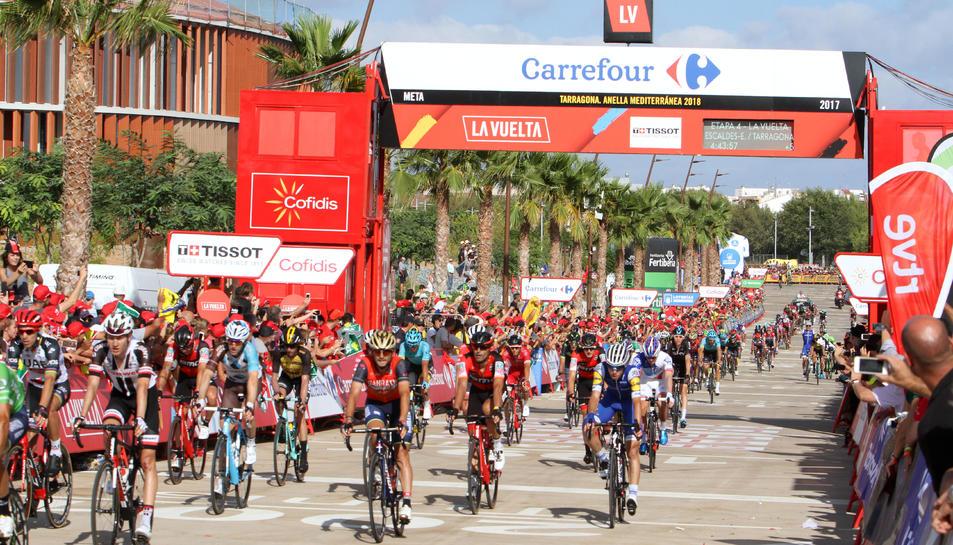 L'arribada de la Vuelta Ciclista a Espanya que es va disputar l'any 2018 a Tarragona.