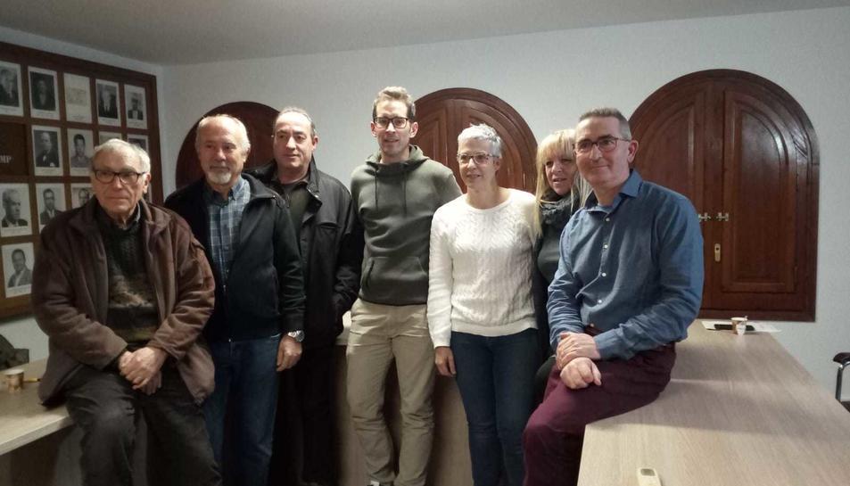 Alcaldes participants a la segona reuniño, celebrada a Vilallonga.