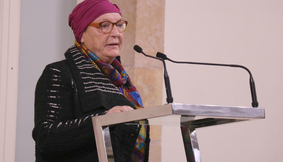 Primer pla de Diana Garrigosa, esposa de Pasqual Maragall, del 10 de desembre del 2018.