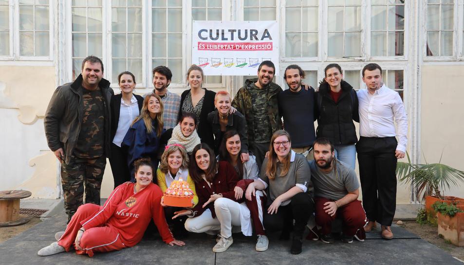 Els membres de Tornavís Teatre en la presentació dels actes del desè aniversari.