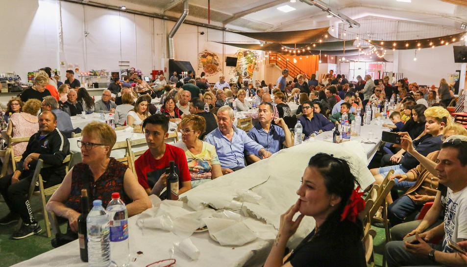 Una instant de la darrera festa anual de la Federació d'Associacions de Veïns de Reus.