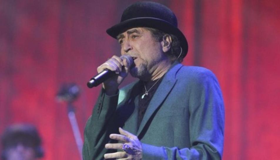 Imatge d'arxiu de Joaquín Sabina durant un concert.