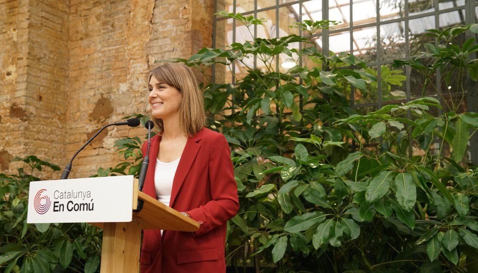 Jessica Albiach en un acte a Tarragona aquest dissabte