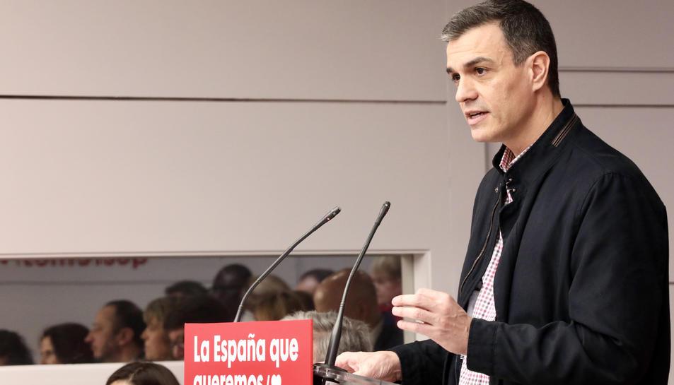 Pedro Sanchez al comité federal del PSOE