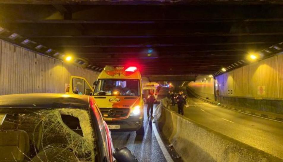 Imatge del lloc de l'accident.