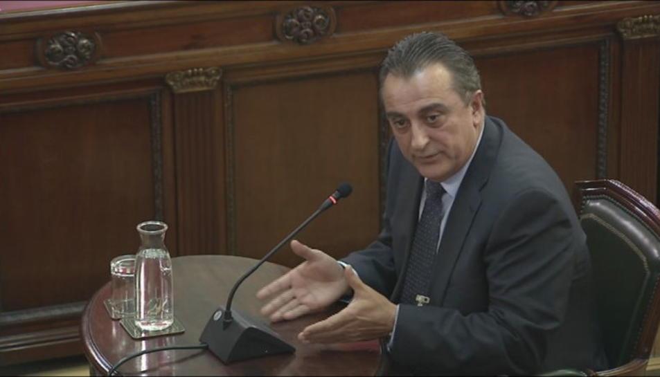 El comissari dels Mossos d'Esquadra Manuel Castellví, durant la compareixença al Tribunal Suprem