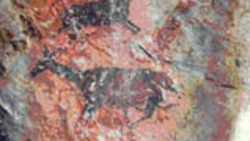 Imatge d'arxiu d'algunes de les pintures rupestres de Cabra Feixet.