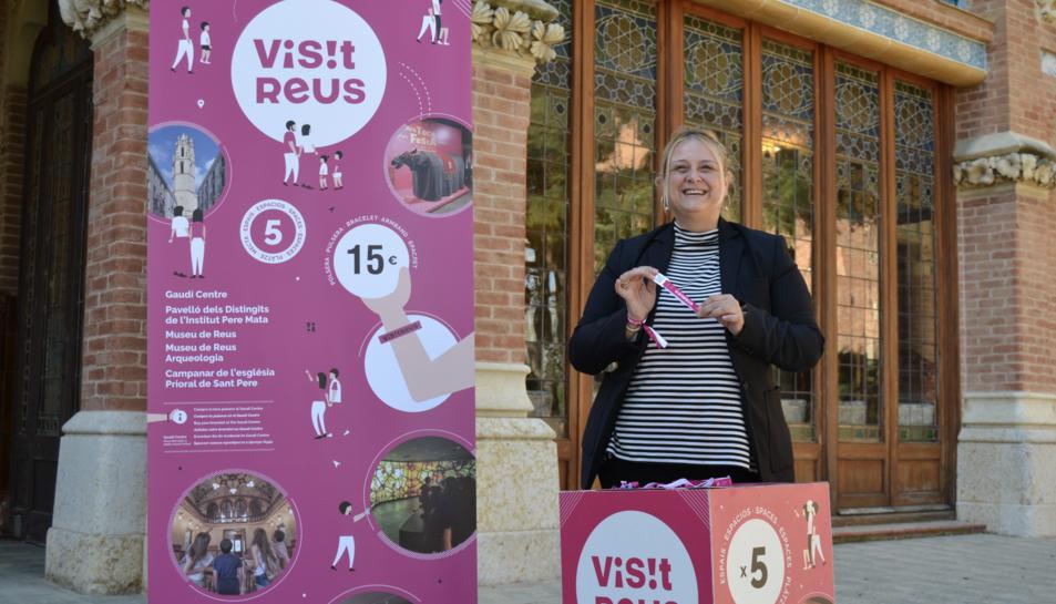 Presentació nova imatge polsera 'Visit Reus'.
