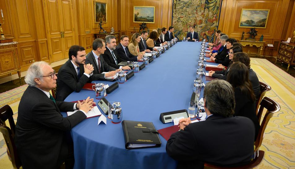 Imatge general del consell de ministres d'Espanya del 18 de febrer del 2020.