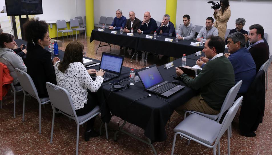 Pla general de la reunió dels representants de la Taula de Consens pel delta de l'Ebre.