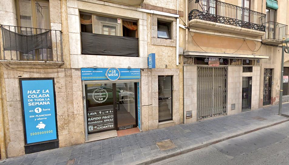 Un dels establiments afectats, al carrer Reial de Tarragona.