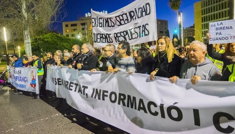 Manifestació per la seguretat a la petroquímica