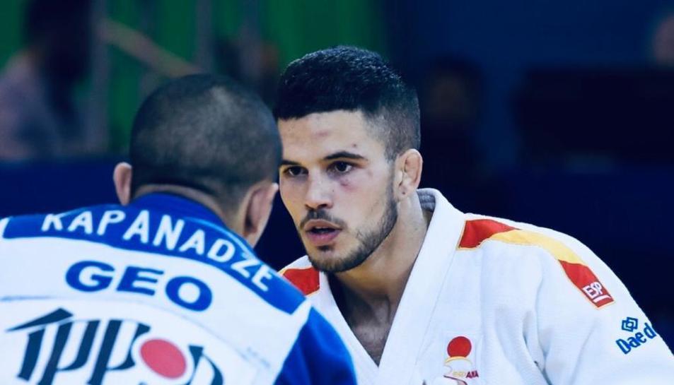 El judoka canongí en un dels molts campionats en els quals ha participat.